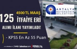 Antalya Büyükşehir Belediyesi 125 İtfaiye Eri...