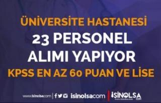Balıkesir Üniversitesi 23 Personel Alımı Sonuçları...