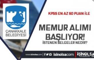 Çanakkale Belediyesi Ön Lisans ve Lisans Memur Alımı...