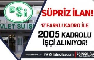 Devlet Su İşleri ( DSİ ) 17 Farklı Kadro İle...