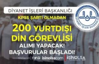 Diyanet ( DİB ) KPSS siz 200 Yurtdışı Din Görevlisi...