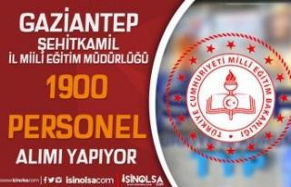 Gaziantep Şehitkamil İl Milli Eğitim 1900 Personel...