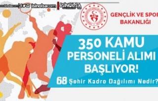 Gençlik Bakanlığı 68 İlde KPSS siz 350 Kamu Personeli...