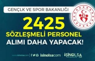 Gençlik ve Spor Bakanlığı (GSB) 2425 Sözleşmeli...