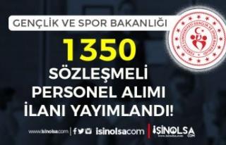 GSB 2021 Yılı 1350 Sözleşmeli Personel Alımı...