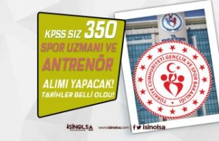 GSB 2021 Millilik Kapsamında KPSS siz 350 Antrenör...