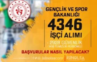 GSB 4346 İşçi Alımı ( 2928 Güvenlik - 1418 Temizlik...
