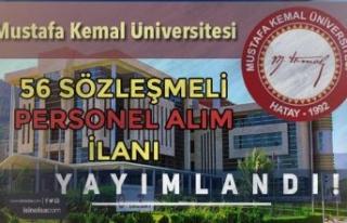 Hatay Mustafa Kemal Üniversitesi 56 Sözleşmeli...