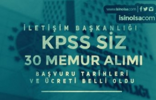 İletişim Başkanlığı 30 KPSS siz Memur Alımı...