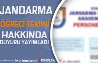 Jandarma Adayların Beklediği Ek Listeyi Yayımladı!...