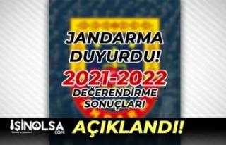 Jandarma Duyurdu! 2021-2022 Değerlendirme Sonuçları...