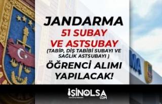 Jandarma ( JSGA ) 51 Tabip, Diş Tabibi Subayı ve...