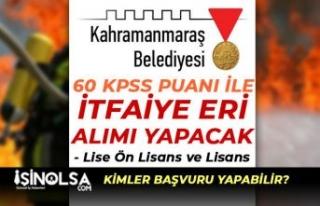 Kahramanmaraş Büyükşehir Belediyesi 12 İtfaiye...