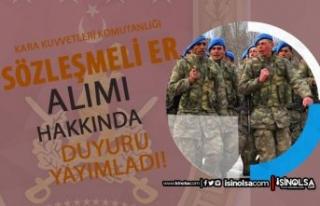 Kara Kuvvetleri Komutanlığı 2021 Sözleşeli Er...