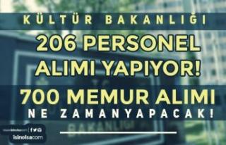 Kültür Bakanlığı 206 Personel Alımı Yapıyor!...