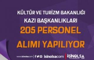 Kültür Bakanlığı Kazı Başkanlıkları 205 Personel...
