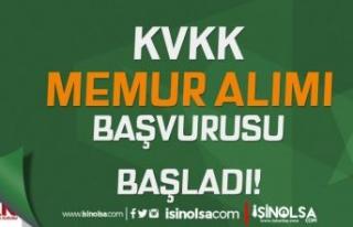 KVKK 3 Farklı Grupta Memur Alımı Başvurusu Başladı!...
