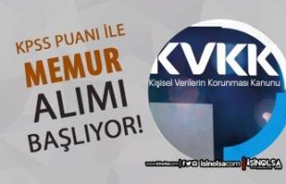 KVKK Memur Alımı Yapacak! Başvurular 31 Ağustos...