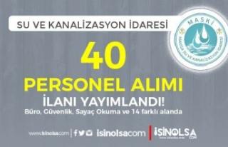 Manisa MASKİ 14 Alanda 40 Personel Alıyor ( Büro,...
