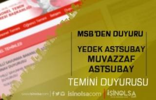 MSB DKK Yedek Astsubay ve Muvazzaf Astsubay Sonuçlarını...