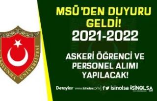 MSÜ Araştırma Enstitüleri İçin Askeri Öğrenci...
