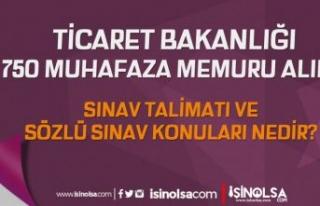 Muhafaza Memuru Alımı Sınav Talimatları ve Sözlü...