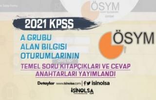 ÖSYM 2021 KPSS A Grubu Soru Kitapçığı ve Cevapları...