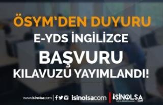 ÖSYM: e-YDS 2021/12 İngilizce Başvuru Kılavuzu...