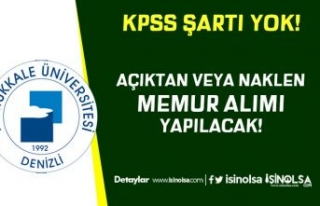 Pamukkale Üniversitesi Açıktan veya Naklen KPSS...