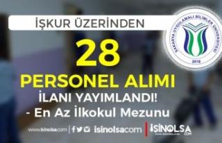 Sakarya Uygulamalı Bilimler Üniversitesi İŞKUR...