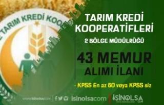 Tarım Kredi Kooperatifleri Yeni 43 Memur Alımı...