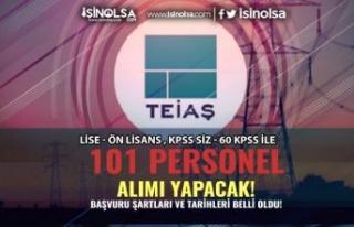 TEİAŞ 101 Teknisyen ve Tekniker Alımı Yapacak!...