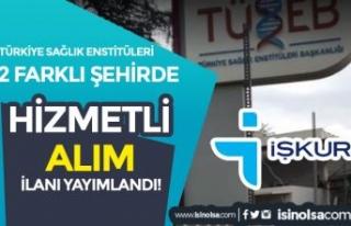 Türkiye Sağlık Enstitüleri ( TÜSEB ) 2 Şehirde...