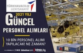 TUSAŞ 2021 Güncel Personel Alımı Listesi! TUSAŞ...