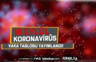 18 Eylül 2021 Koronavirüs Tablosu Yayımlandı