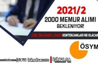 2021/2 Memur Atama Kontenjanları Ne Olacak? Lise,...