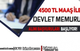 4500 TL Maaş İle Belediye'ye Devlet Memuru Alımı...