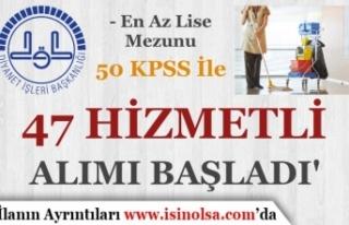 50 KPSS İle DİB Lise Mezunu Hizmetli Alımı Başvurusu...