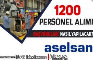 ASELSAN 1200 Mühendis ve Teknisyen Alımı Başvurusu...