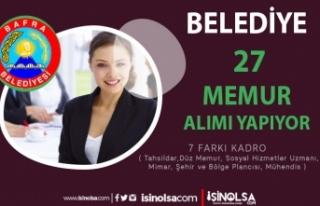 Bafra Belediyesi 7 Farklı Kadro ile 27 Memur Alımı...