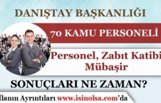 Danıştay 70 Personel, Mübaşir ve Zabıta Katibi...