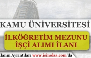 Giresun Üniversitesi İlköğretim Mezunu 6 Personel...
