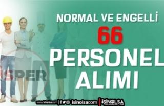 İstanbul İSPER Normal ve Engelli 66 Personel Alımı...