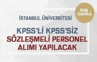 İÜC KPSS'li KPSS'siz 2 Sözleşmeli Personel...