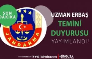 Jandarma 2021 Yılı Sözleşmeli Uzman Erbaş Temini...