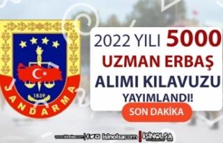 Jandarma 2022 Yılı 5000 Uzman Erbaş Alımı İlanı...