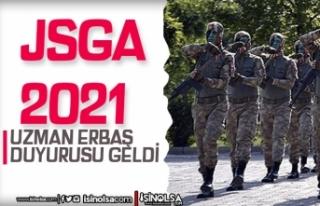 JSGA 2021 Yılı Uzman Erbaş Sonuç Açıklama Duyurusu...