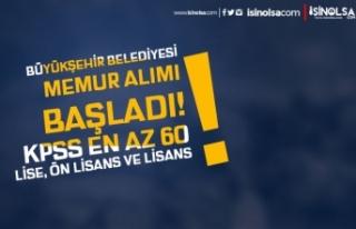 Kahramanmaraş Büyükşehir Belediyesi 12 Memur Alımı...