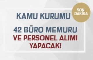 Kamu Kurumu( KÖRPAŞ ) 42 Büro Memuru ve Personel...