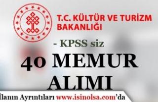 Kültür Bakanlığı 40 Memur Alımı Sona Eriyor!...